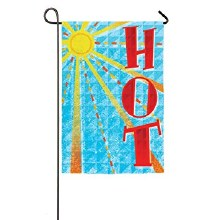 GARDEN FLAG SUMMER HOT
