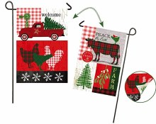 GARDEN FLAG FESTIVE FARMHOUSE