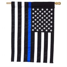 HOUSE FLAG THIN BLUE LINE