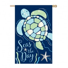 HOUSE FLAG SEAS THE DAY SEA TURTLE