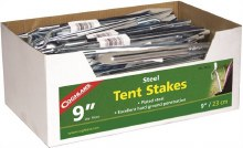 TENT STAKES 9IN STEEL