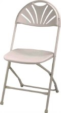 134   CHAIR FOLDING STEEL FRAME WHITE
