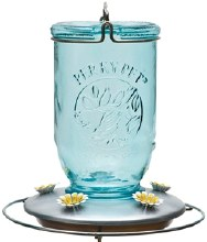 FEEDER HUMMINGBIRD MASON JAR 32OZ