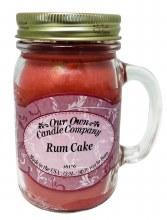 RUM CAKE  MASON CANDLE