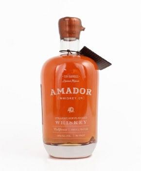 Amador Ten Barrels Small Batch Straight Hop Flavored Bourbon Whiskey 750ml
