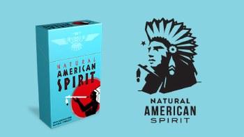 American Spirit Light Blue Box