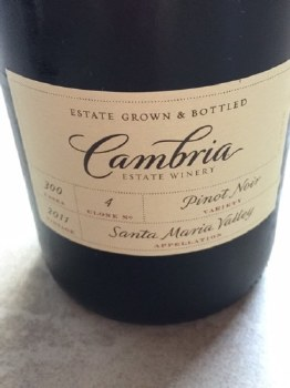 Cambria Clone 4 Pinot Noir 750ml