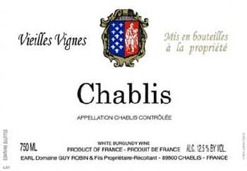 Guy Robin Vieilles Vignes Chablis 750ml