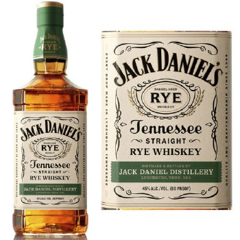 Jack Daniels Rye Whiskey 750ml