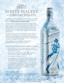 Johnnie Walker White Walker Game Of Thrones Blended Scotch Whiskey 750ml