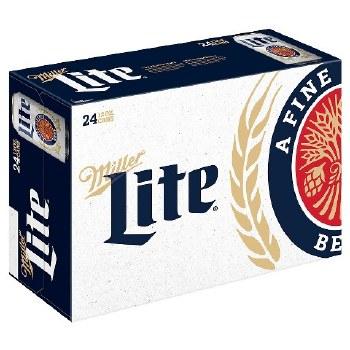 Miller Lite 12oz 6pk,12pk Or 24pk Cans
