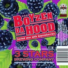 3 Stars Boyzen Da Hood Gose 4pk Can 16oz