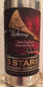 3 Stars  Devil's Double IPA 16oz 4pk Cans