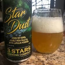 3 Stars Star Dust  Double IPA 16oz 4pk Can