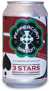 3 Stars Peppercorn Saison 12oz 6pk Cans