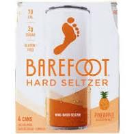 Barefoot Seltzer Pineapple 4pk 8oz Can