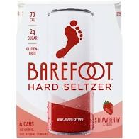 Barefoot Seltzer Strawberry 4pk Cans
