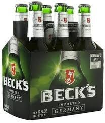 Becks Regular 12oz 6pk Bottles