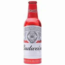 Budweiser Aluminium Single or 8pk 16oz Bottles