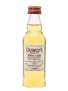 Dewars White Label Blended Scotch Whiskey 50ml