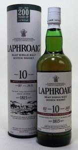 Laphroaig 10 Year Cask Strength Single Malt Whiskey 750ml