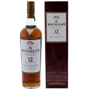 Macallan 12 Year Sherry Oak Single Malt Whiskey 750ml