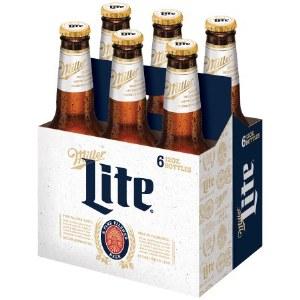 Miller Lite 12oz 6pk Bottles