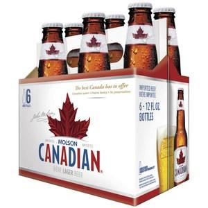 Molson Canadian 12oz 6pk Bottle