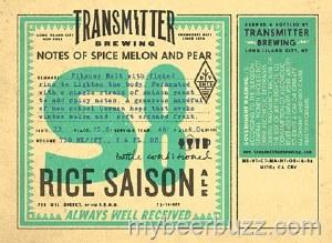 Transmitter Rice Saison 500ml Bottle