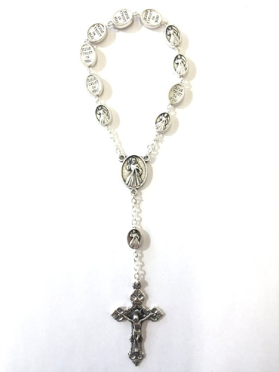 ONE DECADE DIVINE MERCY METAL ROSARY