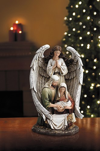 GUARDIAN ANGEL WITH HOLY FAMILY