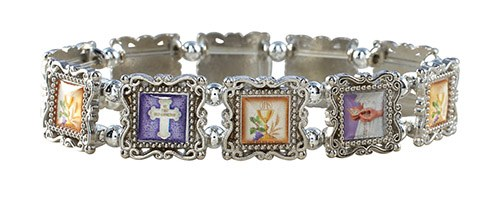 1ST COMMUNION SILVER PANEL BRACELET
