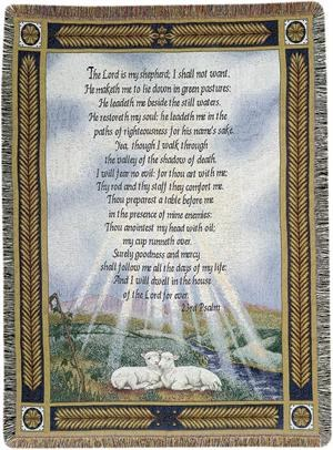 23RD PSALM 50X60 TAPESTRY THROW