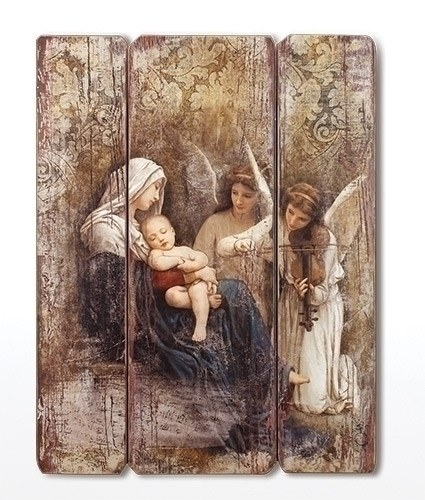 SONG OF THE ANGELS WOODEN PLAQUE