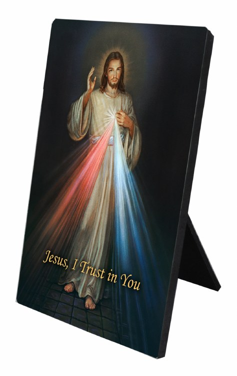 DIVINE MERCY DESK PLAQUE