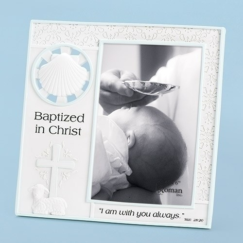 7.25 BOY BAPTISM FRAME 4X6 PHO