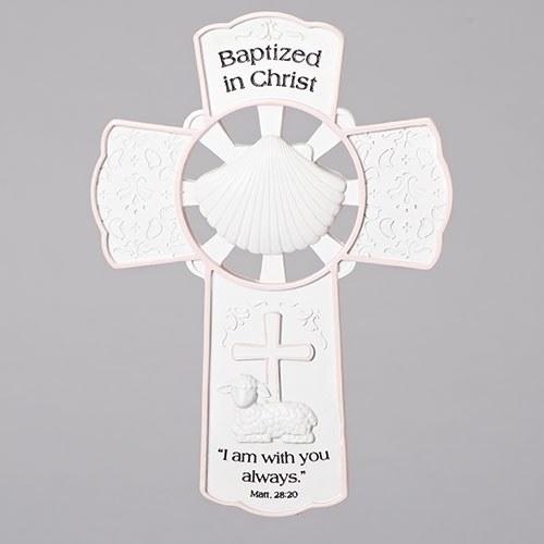 "7.75"" GIRL BAPTISM WALL CROSS"