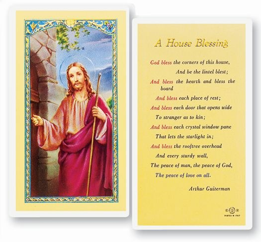 A HOUSE BLESSING PRAYERCARD