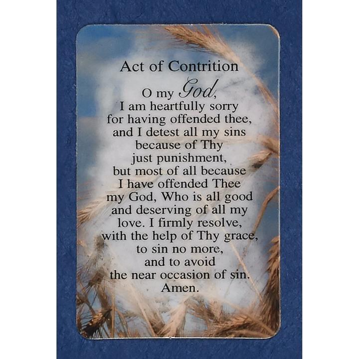 ACT OF CONTRITION POCKET CARD