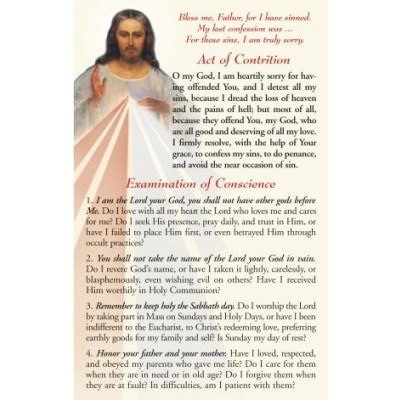 ACT OF CONTRITION PRAYER CARD
