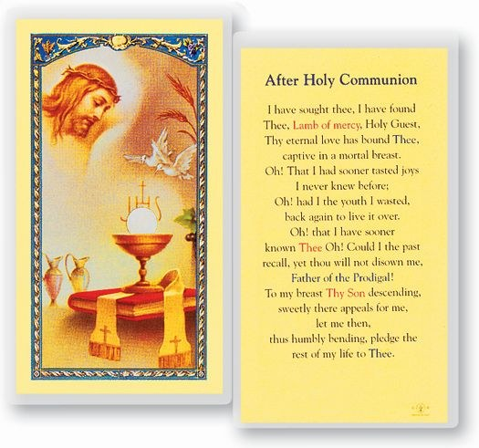 AFTER HOLY COMMUNION PRAYER CARD