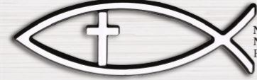 AUTO EMBLEM FISH WITH CROSS SILVER