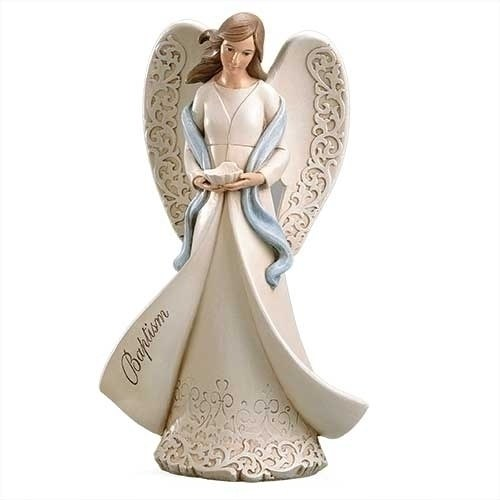 BAPTISM ANGEL HOLDING A SHELL