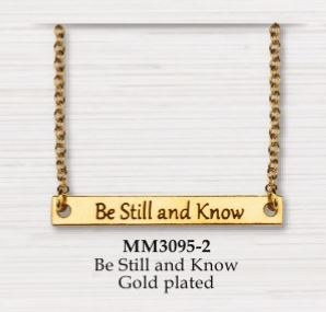 BAR NECKLACE BE STILL AND KNOW