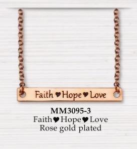 BAR NECKLACE FAITH HOPE LOVE