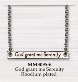 BAR NECKLACE GOD GRANT ME SERENITY