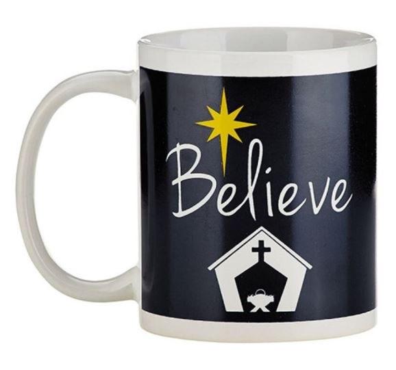 BELIEVE CHRISTMAS MUG