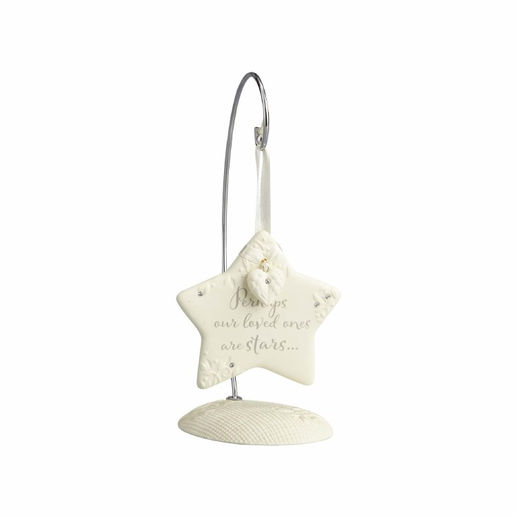 STAR BEREAVEMENT ORNAMENT WITH STAND
