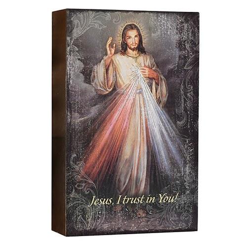 "8"" DIVINE MERCY BOX SIGN"