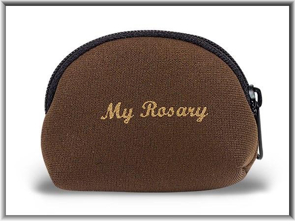 BROWN NEOPRENE ROSARY CASE